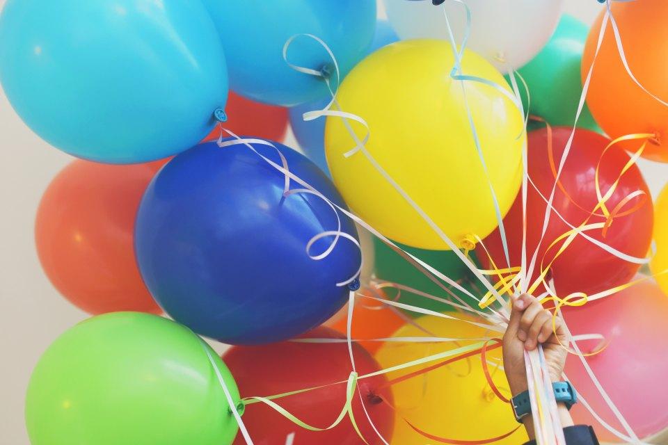 Ballonger til bursdagsfest